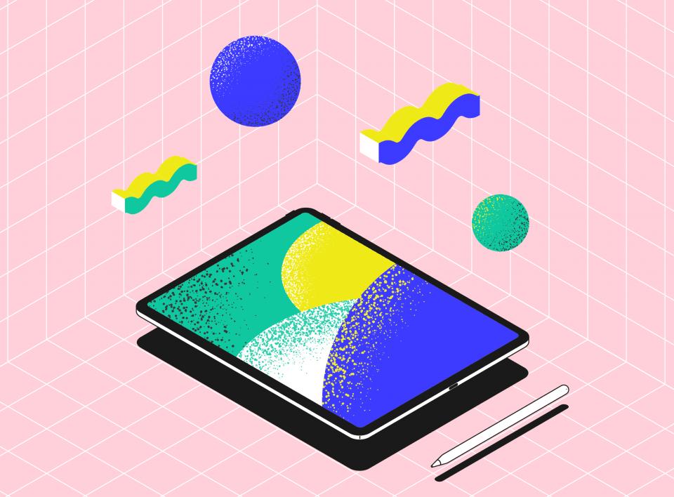 Иллюстрация на iPad